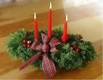 Highland 3 Candle Centerpiece | Christmas Centerpiece